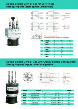 multiple spindle boring head 4